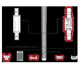 Columna easyPack para barreras de infrarrojos para soluciones de seguridad perimetral